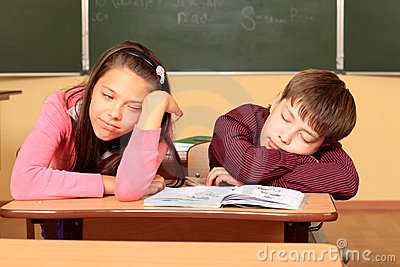 Asleep at School